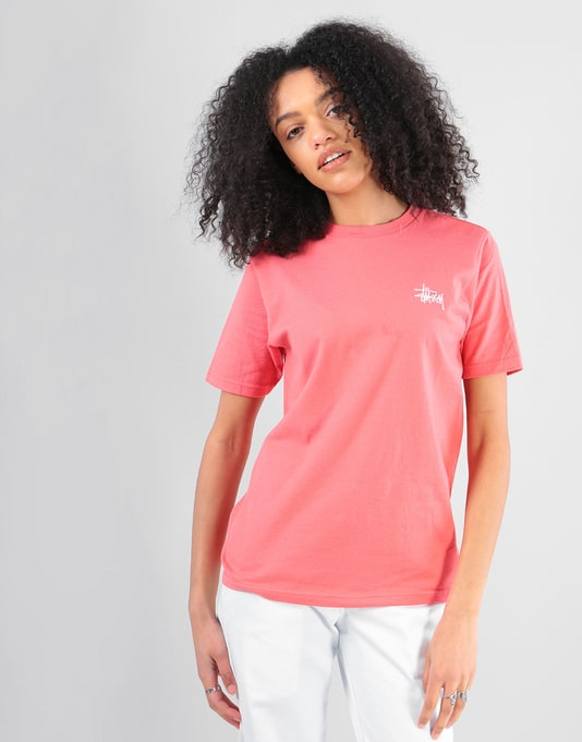 Stüssy Womens Basic Stüssy T-Shirt - Rose