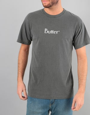 Butter Goods Classic Logo Pigment Dyed T-Shirt - Black