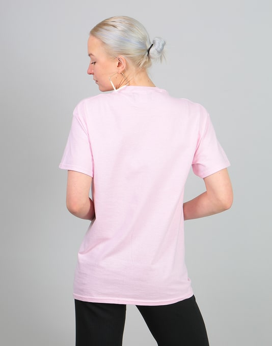 Route One Womens Logo Oversized T-Shirt - Light Pink