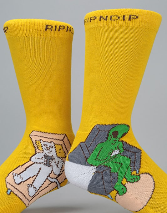 RIPNDIP Therapy Socks - Patel Yellow