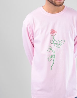 Route One With Love LS T-Shirt - Light Pink