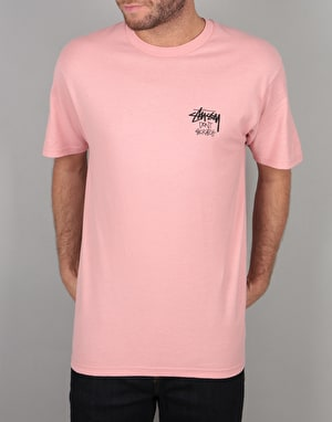 Stüssy Don't Scratch T-Shirt - Dusty Rose