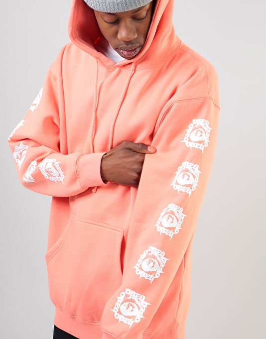 Obey Tunnel Vision Pullover Hoodie - Coral