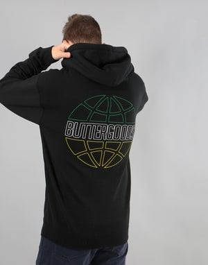 Butter Goods Outline Pullover Hoodie - Black