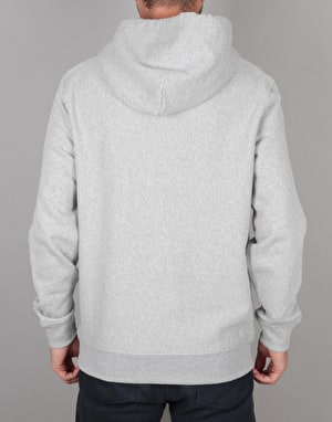 Stüssy Stock Logo Pullover Hoodie - Grey Heather