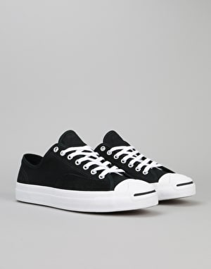 Converse Jack Purcell Pro Ox Skate Shoes - Black/Black/White