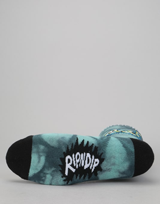 RIPNDIP Falling Electrocuted Socks - Deep Sea Lightning Wash