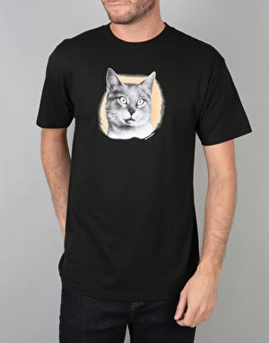 Skate Mental Cat T-Shirt - Black