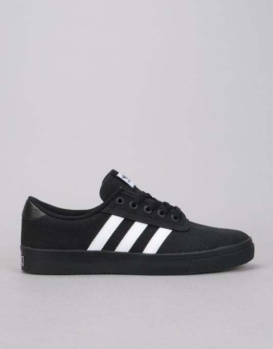Mens Kiel Skateboarding Shoes, Black adidas