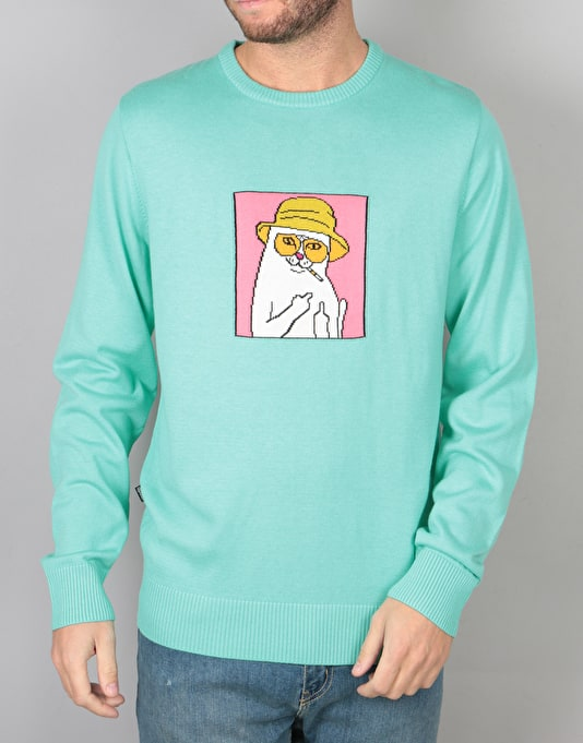 RIPNDIP Nermal S. Thompson Crewneck - Clay