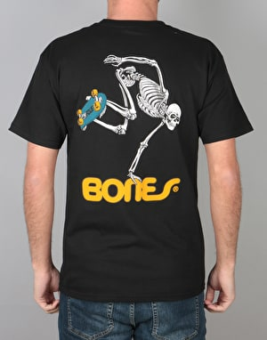Powell Peralta Skateboard Skeleton T-Shirt - Black