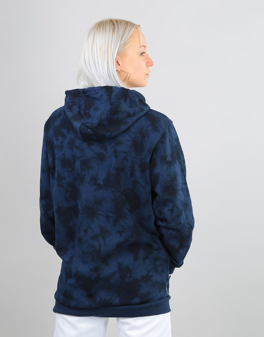 Adidas Womens Crystal Wash Oversized Hoodie - Night Indigo