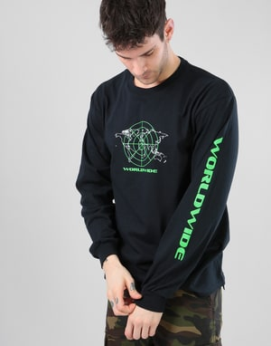 Route One Worldwide LS T-Shirt - Black