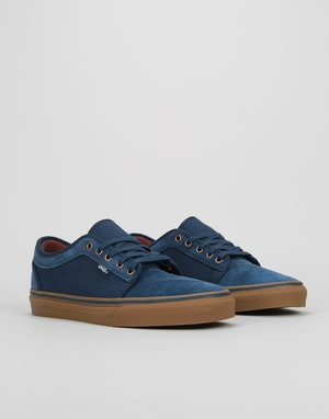 Vans Chukka Low Pro Skate Shoes - Rich Navy/Gum