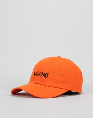 Welcome Scrawl Unstructured Slider Cap - Orange/Black