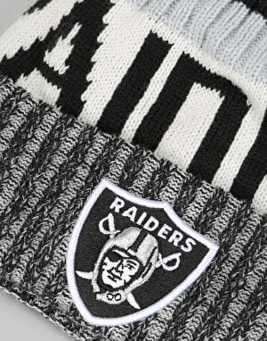 New Era NFL Oakland Raiders Sideline Bobble Beanie - Multi