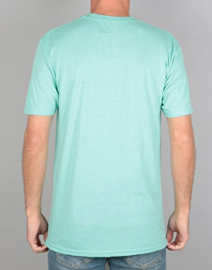 Primitive Nuevo Pennant Light Weight T-Shirt - Mint Pepper Heather