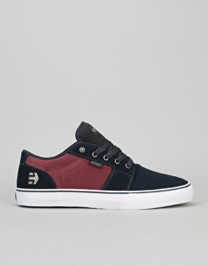 Etnies Barge LS Skate Shoes - Navy/Red/White