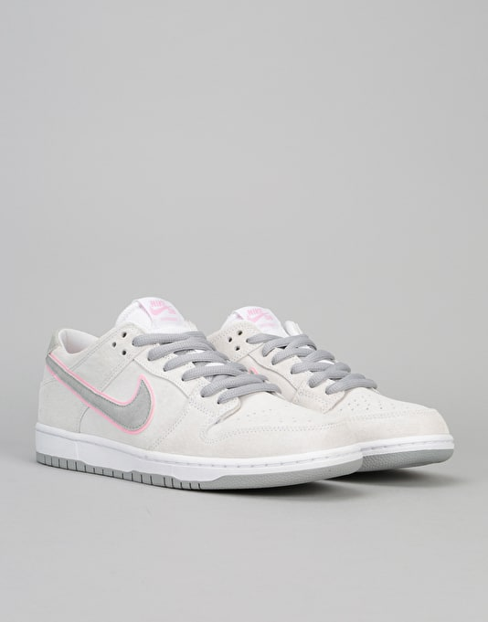 Nike SB Zoom Dunk Low Pro Ishod Skate Shoes - White/Perfect Pink