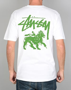 Stüssy Stock Lion T-Shirt - White