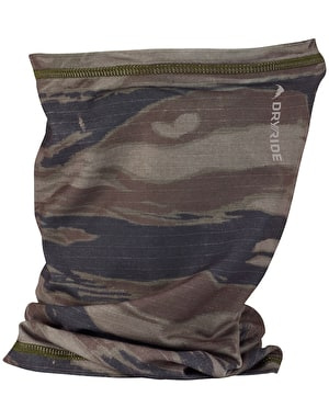Burton Midweight Neck Warmer - Olive Green Worn Tiger