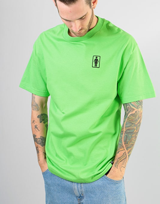 Girl x Sub Pop Logo T-Shirt - Lime Green