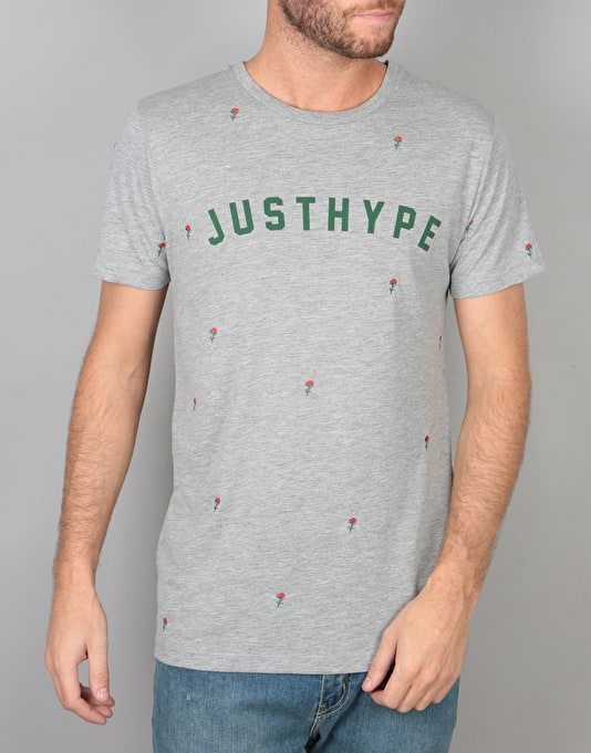 Hype Scattered Rose T-Shirt - Grey Marl