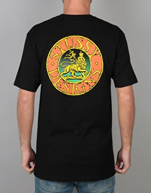 Stüssy Lion Seal T-Shirt - Black