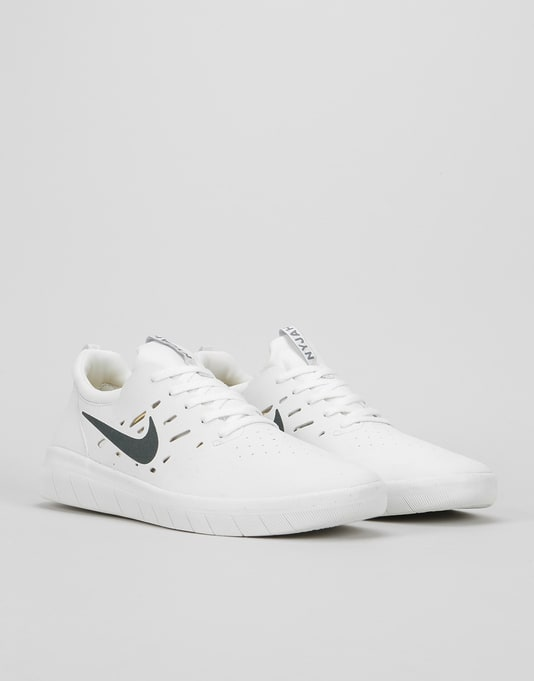 Nike SB Nyjah Free Skate Shoes - Summit White/Anthracite-Lemon Wash