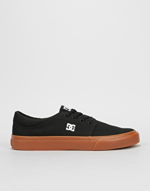 DC Trase TX Skate Shoes - Black/Gum