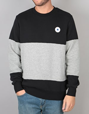 Converse Core Crew Neck - Black Vintage Grey Heather