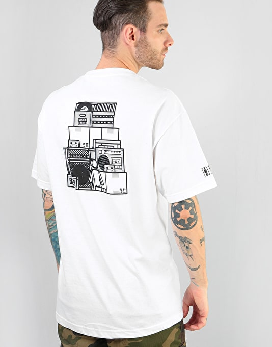 Girl x Sub Pop Stacked T-Shirt - White