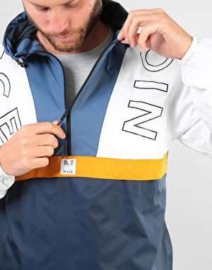 Nicce Conti Kagoule Jacket - Deep Navy/White/Majorca Blue/Yellow