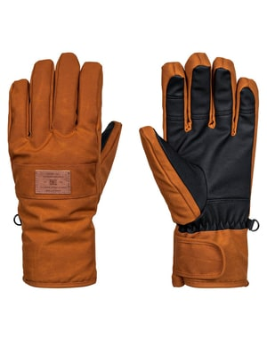 DC Franchise SE 2018 Snowboard Gloves - Leather Brown