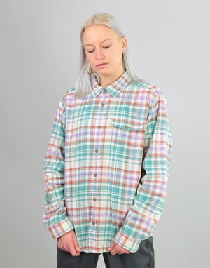 Patagonia Womens L/S Fjord Oversized Flannel Shirt - Beryl Green