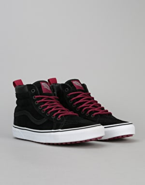 Vans Sk8-Hi MTE Skate Shoes - (MTE) Black/Beet Red