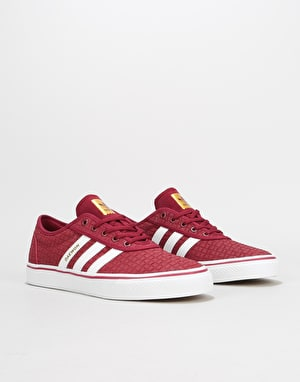Adidas Adi-Ease Skate Shoes - Collegiate Burgundy/White/Gold Metallic