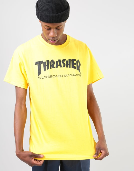 Thrasher Skate Mag T-Shirt - Yellow  bc8b4909ee2