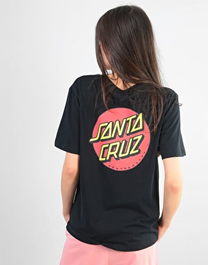 Santa Cruz Classic Dot Womens T-Shirt - Black