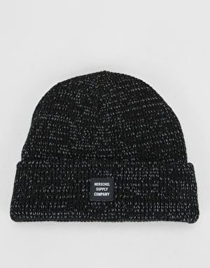 Herschel Supply Co. Reflective Abbott Beanie - Black Reflective