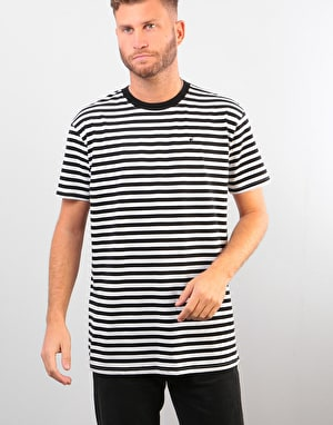 Route One Classic Stripe T-Shirt - Black/White
