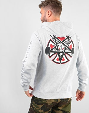 Independent x Thrasher Pentagram Cross Pullover Hoodie - Grey Heather