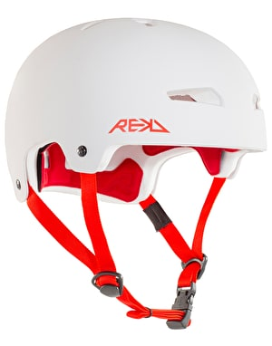 REKD Elite Skateboard Helmet - White/Red