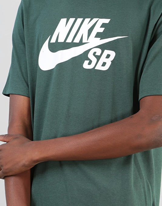 Nike SB Logo T-Shirt - Midnight Green/White