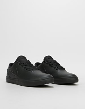 Nike SB Check Solarsoft Skate Shoes - Black/Black-Gunsmoke