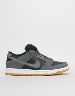 Nike SB Dunk Low Skate Shoes - Dark Grey/Dark Grey-Black-White