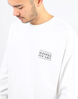 Scarred For Life Black Panther LS T-Shirt - White