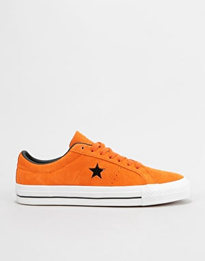 Converse One Star Pro Ox Skate Shoes - Campfire Orange/Black/White