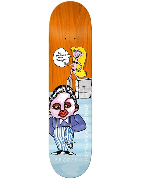 Krooked Ronnie Dangerus Skateboard Deck - 8.38""