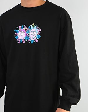 Primitive x Rick & Morty Dirty P L/S T-Shirt - Black